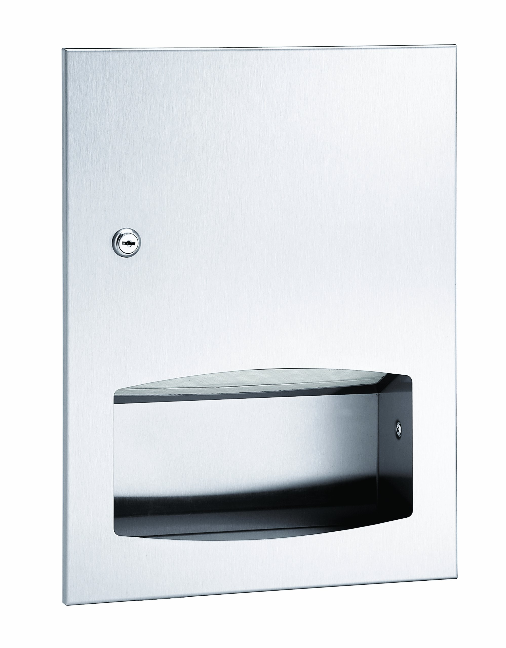 Bradley 2442-000000 Contemporary Stainless Steel Low Capacity Recessed Towel Dispenser, 13 Width x 17-3/8 Height x 4-1/8 Depth