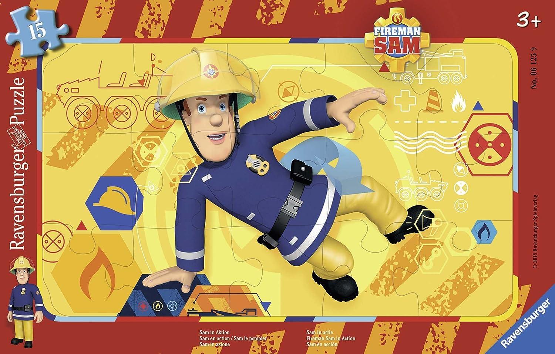 Ravensburger Kinderpuzzle Bagger, Traktor und Kipplader - 06573 / 3 Rahmenpuzzles jeweils 6-teilig mit Fahrzeugen - für Kinder ab 2,5 Jahre Ravensburger Spielverlag 65738 Frühe Kindheit Frühkindliche Bildung