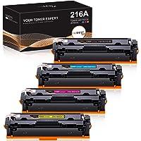 IUBEST Reemplazo de cartucho de tóner compatible para HP 216A W2410A W2411A W2412A W2413A para usar con HP MFP M183fw…