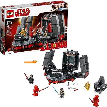 Amazon Com Lego Star Wars 75216 Snoke S Throne Room Building Kit 492 Pieces Toys Games