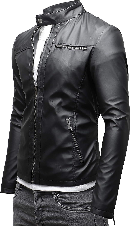 Crone Epic Cleane Basic Veste en cuir pour homme Eco Leder - Matt Schwarz