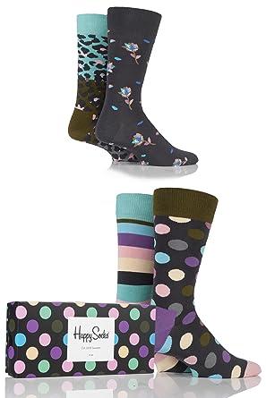 design de qualité 38bd8 38a2a Happy Socks Stripe Gift Box Chaussettes (Lot de 4) Femme