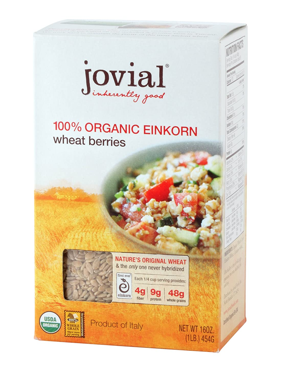 Jovial Foods Organic Einkorn Wheat Berries, 16.0-Ounce