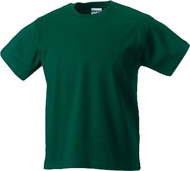 Jerzees Schoolgear - Camiseta clásica para niños, Hombre, Verde botella, 5-6 años: Amazon.es: Ropa y accesorios
