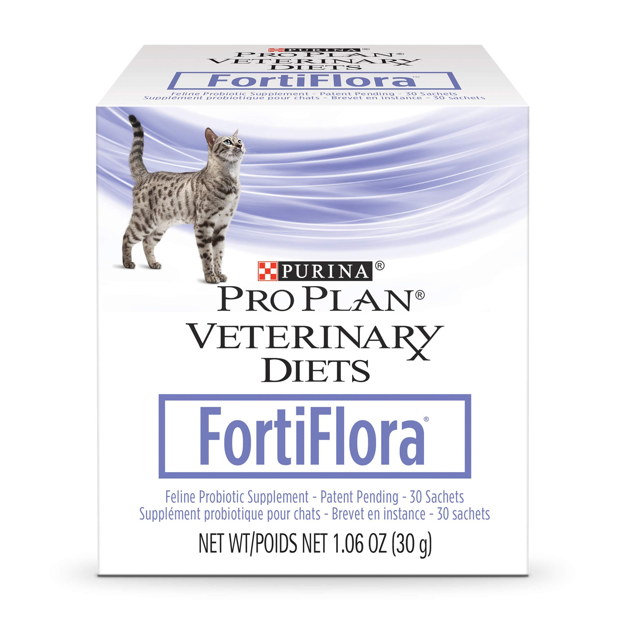 Purina Pro Plan Veterinary Diets Fortiflora Feline Nutritional Cat Supplement - 30 ct. Box