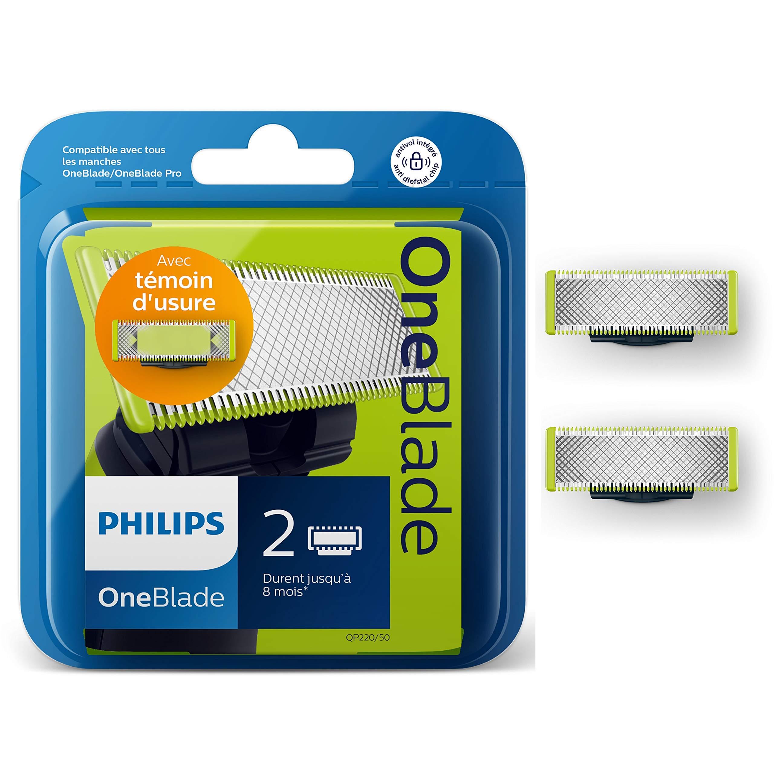 Philips Norelco OneBlade QP220 50 - Recambios para máquina de afeitar (pack  de 2 6dc72a789040