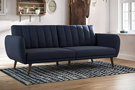 stylish living room comfortable. Linen Futon Sofa Bed Size Full Stylish Living Room Comfortable Slanted Legs Ribbed Tufted Back Sturdy L