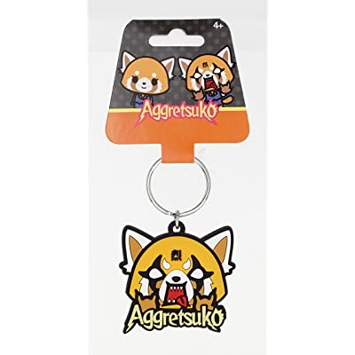 SANRIO Aggretsuko Soft Touch PVC Key Ring, Multi Color: Toys & Games