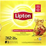 Lipton Tea Bags For A Naturally Smooth Taste Black Tea Can Help Support a Healthy Heart 24.9 oz 312 Count