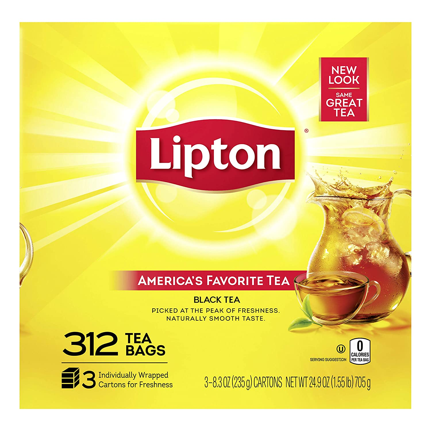 Lipton Tea Bags For A Naturally Smooth Taste Black Tea Can Help Support a Healthy Heart