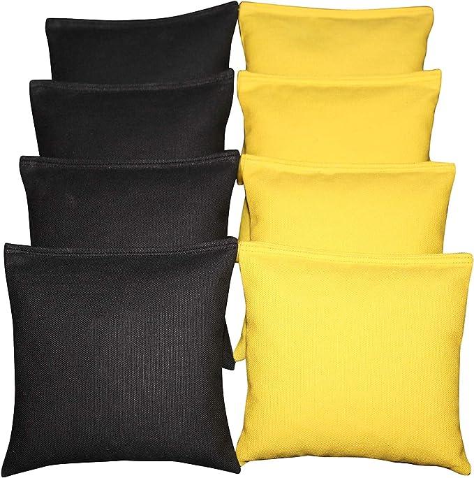 BackYardGamesUSA Cornhole Bean Bags Chevron Silver Gray /& Aqua Green 8 ACA Regulation Bags Fun!