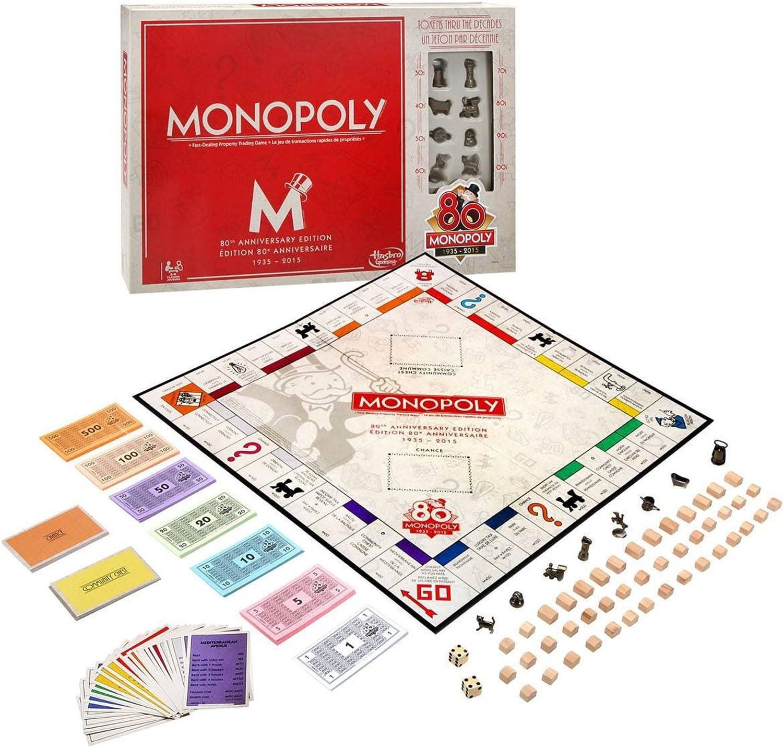 Hasbro Spiele B0622 - Monopoly 80 Jahre, russische Ausgabe: Amazon.es: Juguetes y juegos