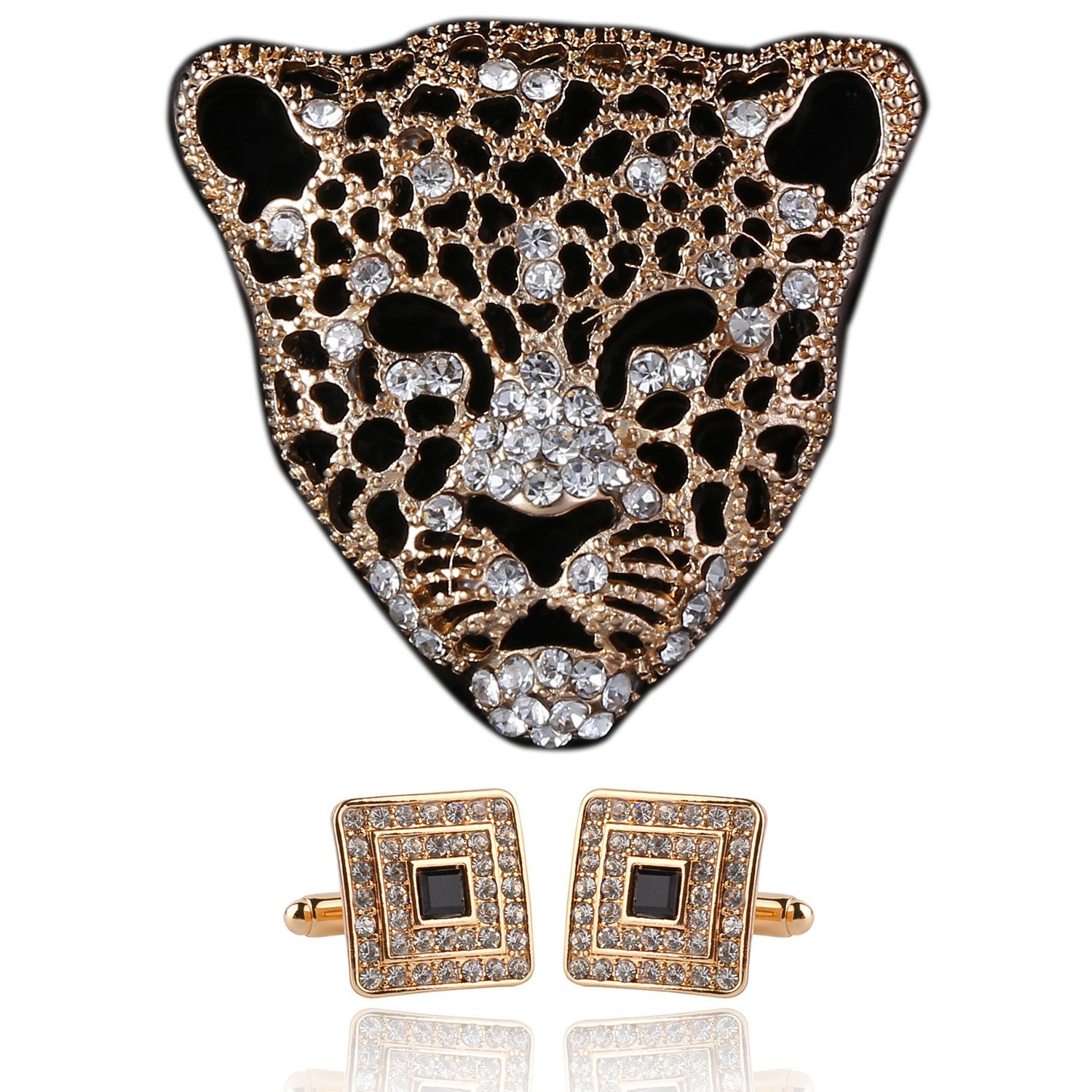 Leopard Brooch Pin Jewelry for Men Suits for Boyfriend from Daughter Papa Gifts