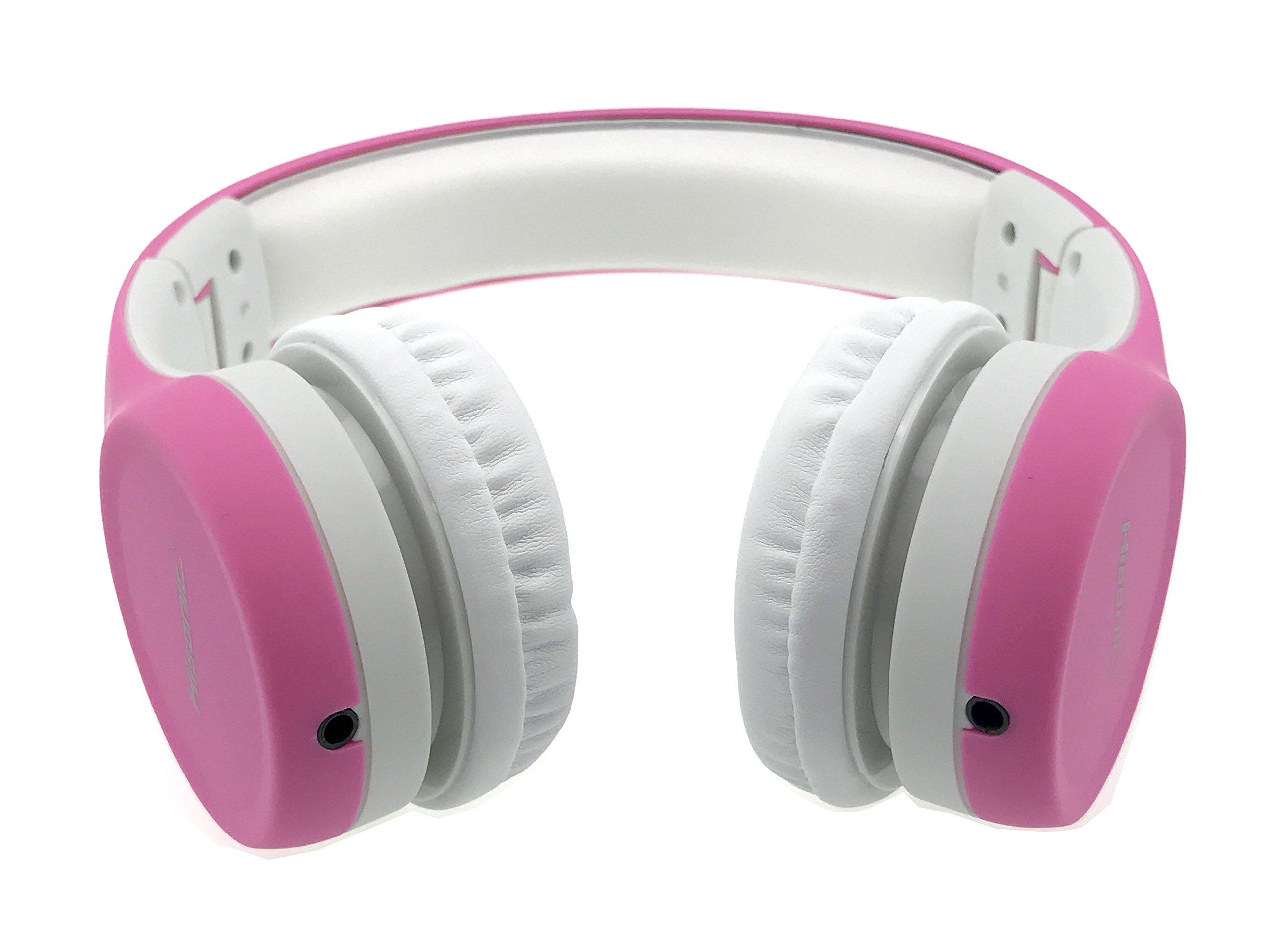 Hisonic Limited Volume Kids Foldable Headphones - Pink