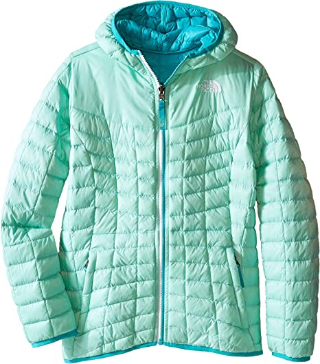 6d485fd35 The North Face Kids Girl's Reversible Thermoball Hoodie (Little Kids/Big  Kids)