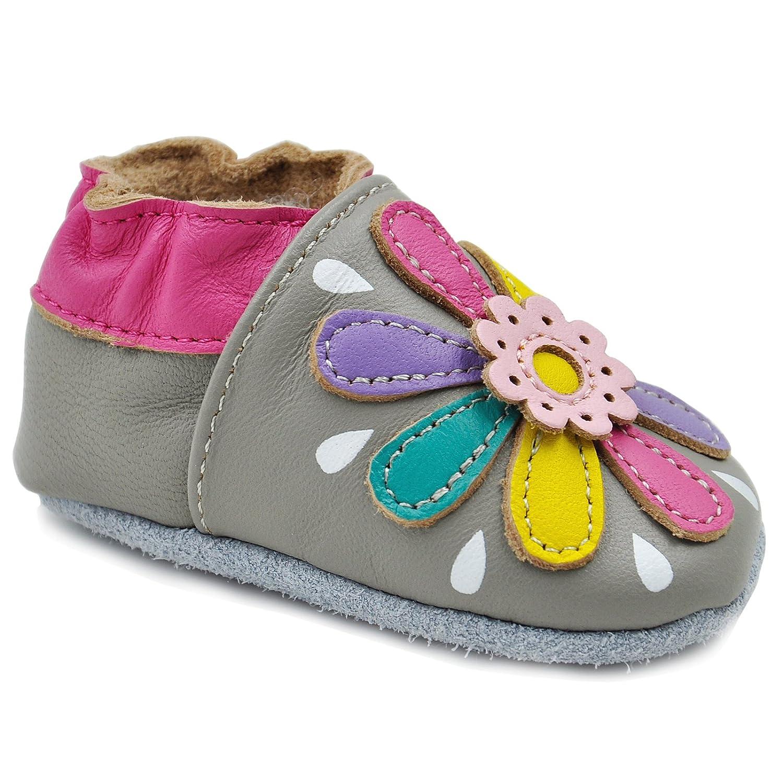 Kimi Kai Baby Girls Lambskin Leather Soft Sole Shoes Flower