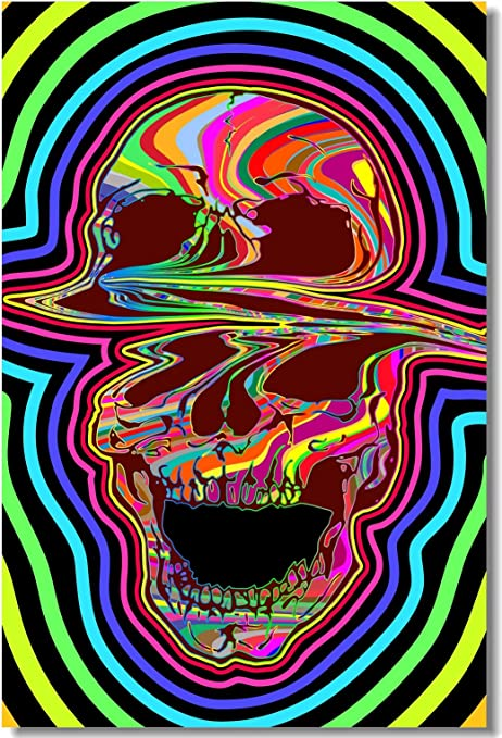 Poster Psychedelic Trippy Colorful Ttrippy Surreal Abstract Digital Art Print 2