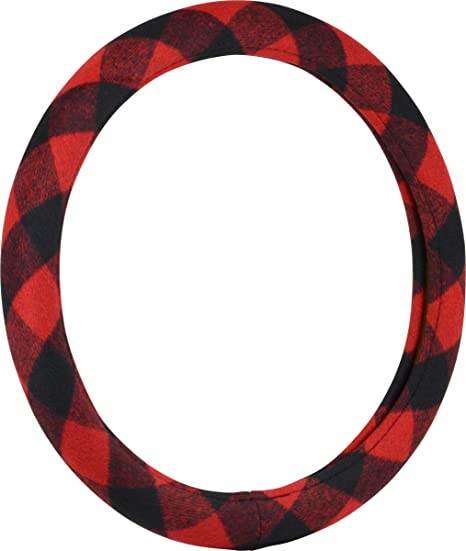 Bell Automotive 22-1-97495-8 Gray Plaid Steering Wheel Cover
