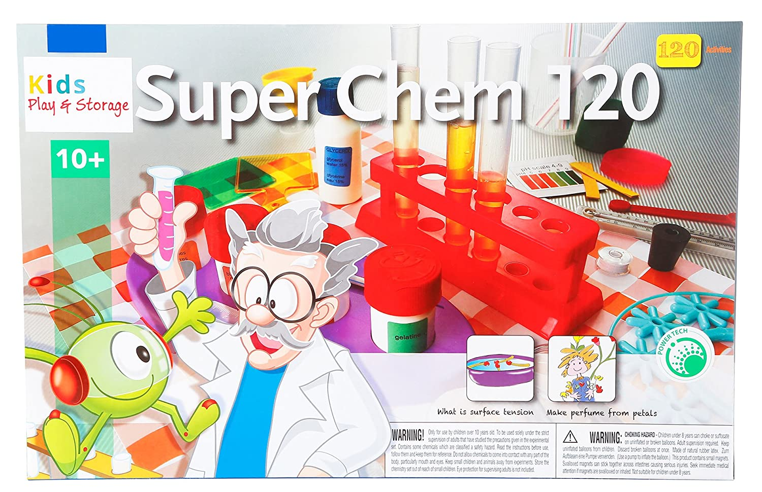Amazon.com: Kids Play and Storage Chemistry Set (120-Experiments): Toys &  Games