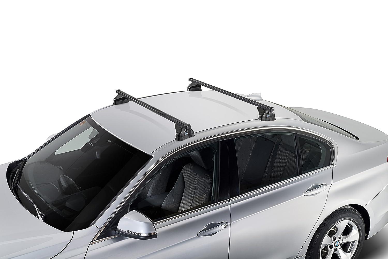 Kit de barras portaequipajes de acero 110 cm adjuntan para Opel/Vauxhall Astra 5P (H) 2004- > 2010 - Astra GTC 3P (H) 2004- > 2011: Amazon.es: Coche y moto