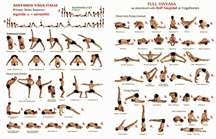 Yoga Ashtanga Fabric Cloth Rolled Wall Poster Print -- Size: (20