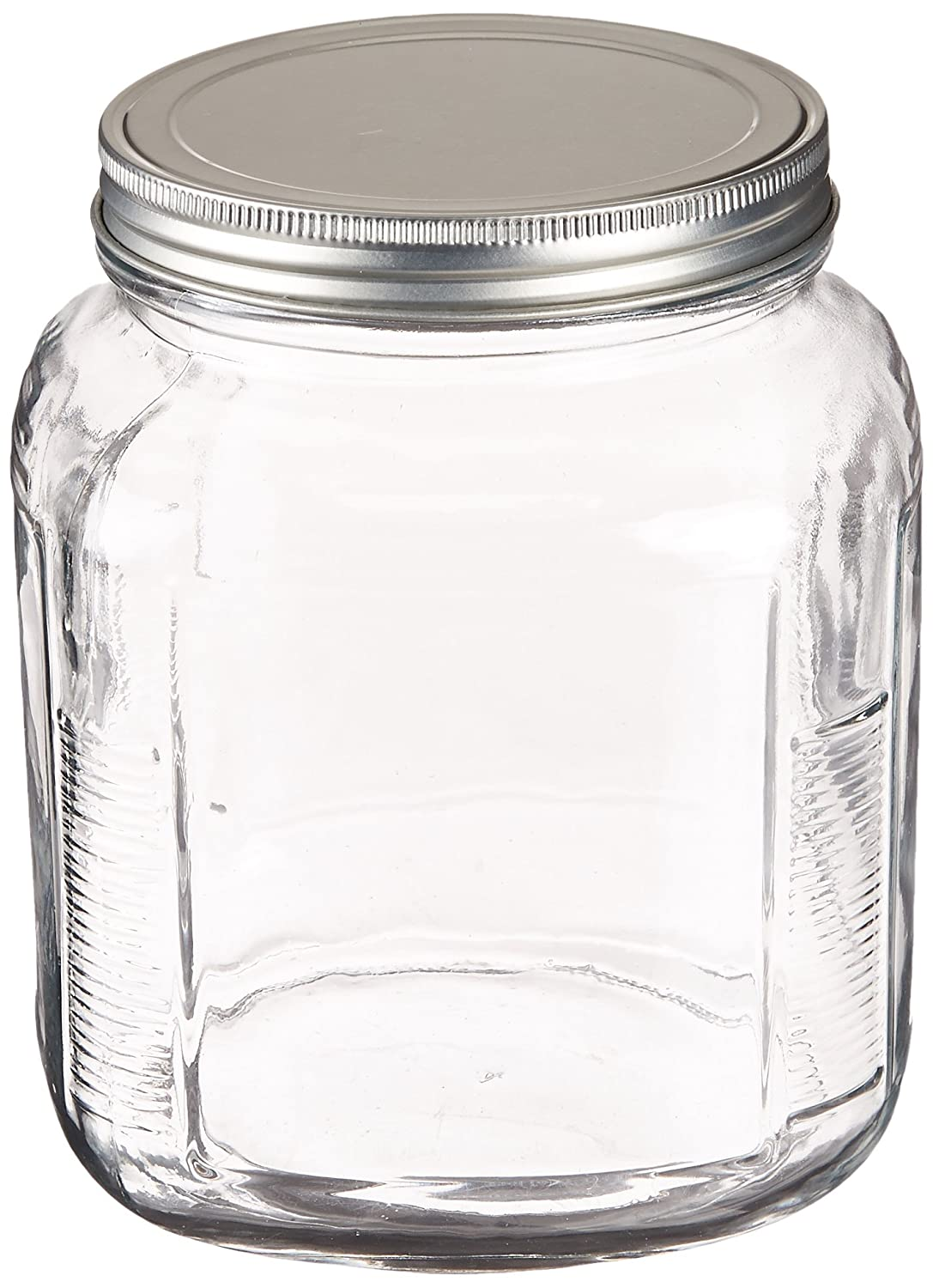 Anchor Hocking 1-Gallon Cracker Jar with Brushed Aluminum Lid, Set of 4 85725