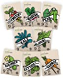 """Vegetable Seeds Heirloom""""SillySeed"""" Collection - 100% Non GMO. Veggie Garden Variety Pack: Tomato, Cucumber, Lettuce…"""