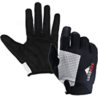 LuxoBike Cycling Gloves Bicycle Gloves Bicycling Gloves Mountain Bike Gloves - Anti Slip Shock Absorbing Pad Breathable MTB DH Road Touch Screen Recognition Full Finger Gloves Men/Women
