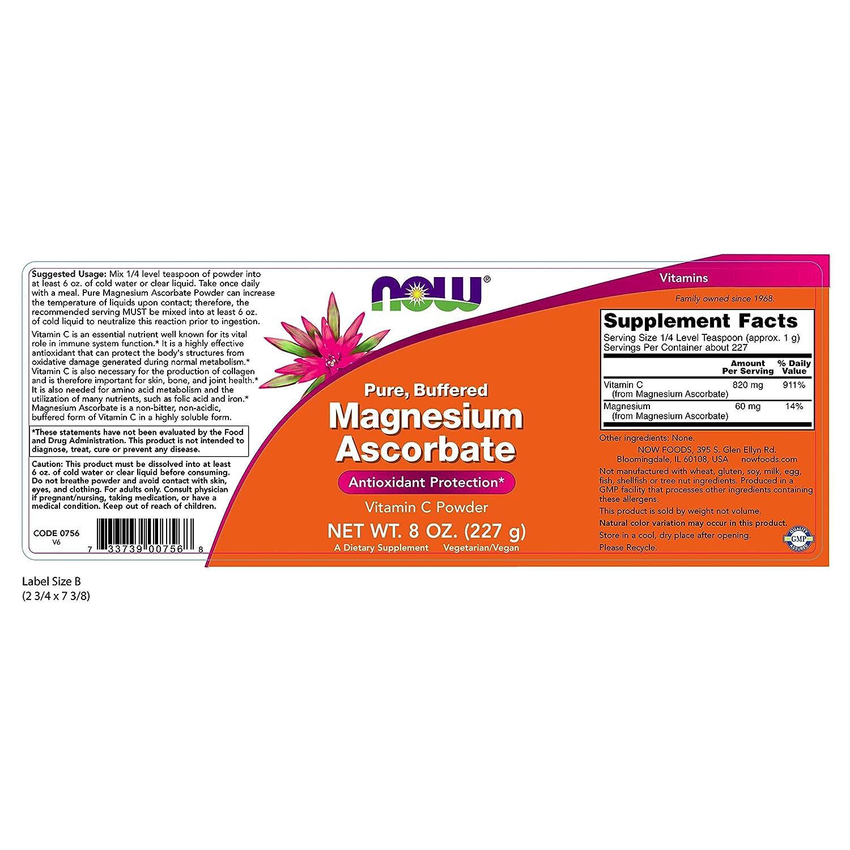 El ascorbato de magnesio, a 8 oz (227 g) - Now Foods: Amazon.es: Salud y cuidado personal