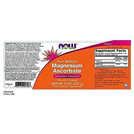El ascorbato de magnesio, a 8 oz (227 g) - Now Foods