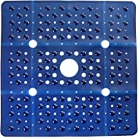 SlipX Solutions 27″ x 27″ Extra Large Square Shower Mat Provides 65% More Coverage & Non-Slip Traction (100 Suction Cups, Great Drainage) (Navy)