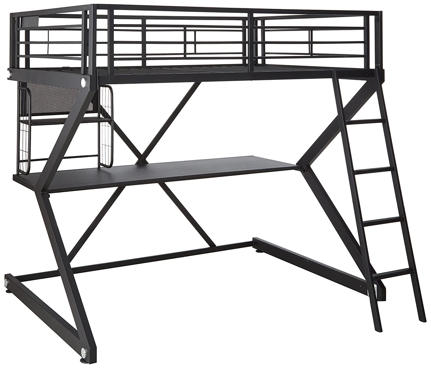 Amazon Parkview Full Workstation Loft Bed Black Kitchen & Dining
