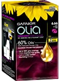 Garnier Olia Permanent Hair Colour - 6.66 Very Intense Red (Ammonia Free, Oil Based)