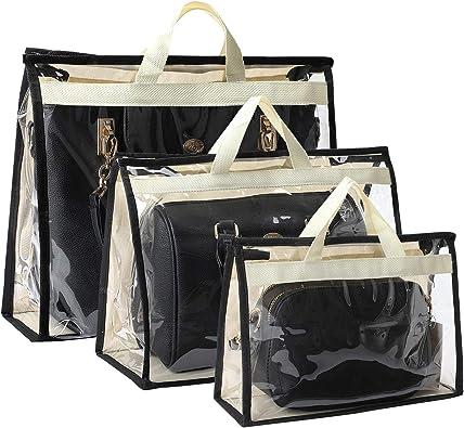 2//3//4 Pockets Home Tote Bag Handbag Hanging Organizer Purse Clear Storage Bags