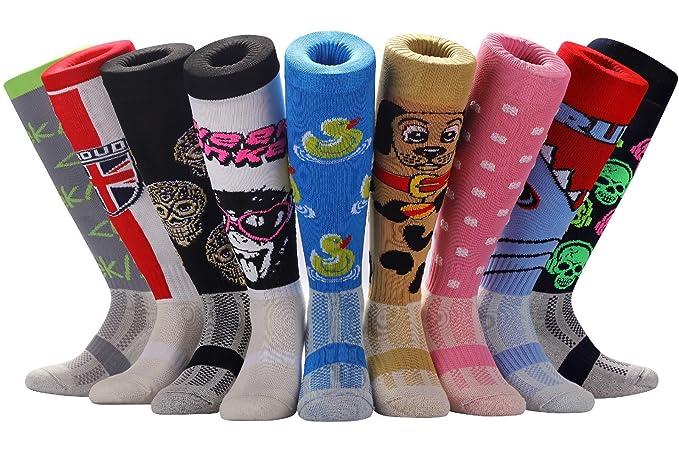 Samson Hosiery ® FUNKY Zapatillas Calcetines de diseño divertido regalo de la novedad Moda Deportes y Casual rodilla alta para hombres mujeres niños unisex, ...
