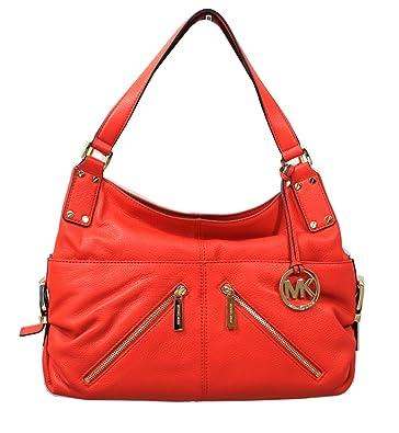 63bd9a65e189 Michael Kors Portland Large Leather TZ Shoulder Bag (Mandarin): Handbags:  Amazon.com