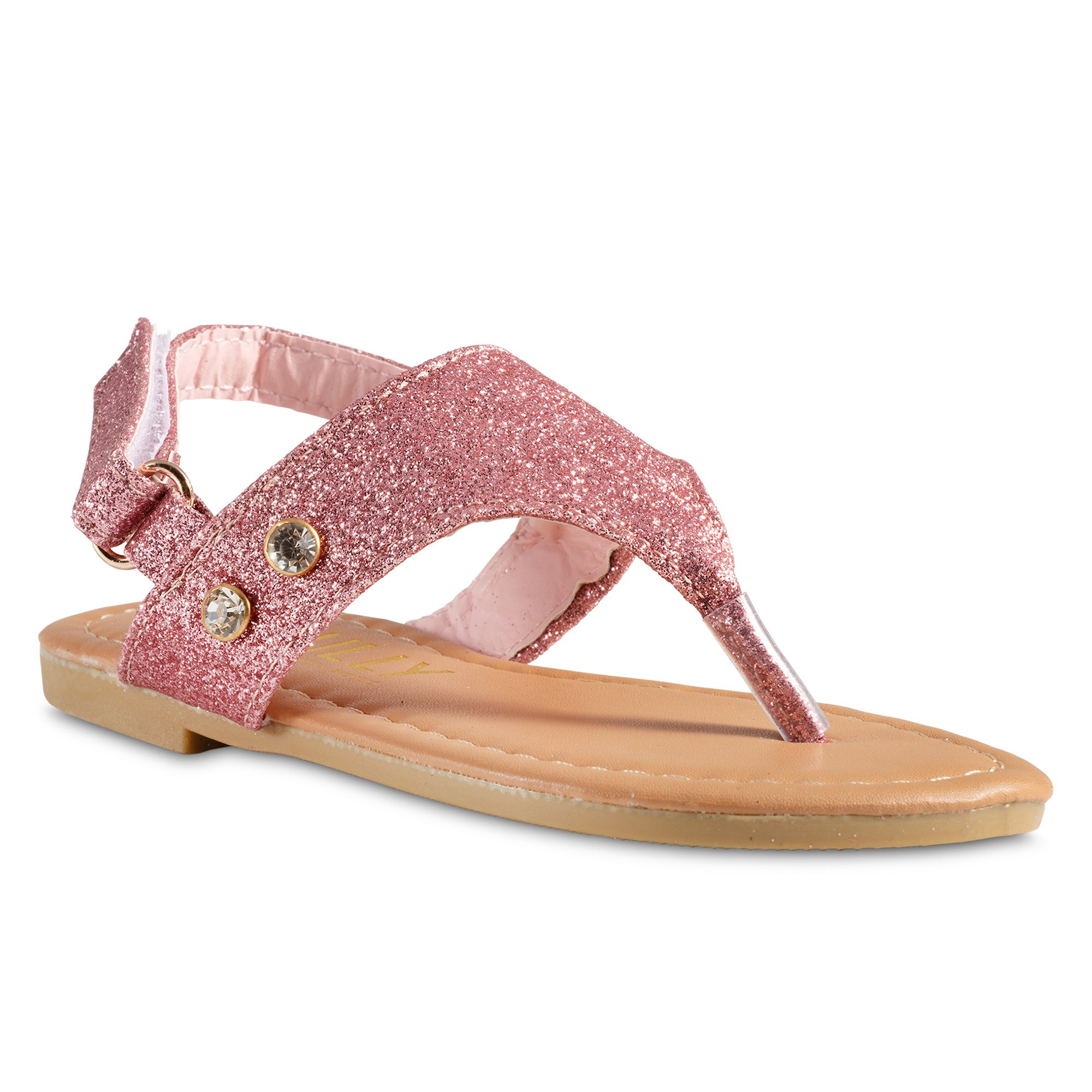 Chillipop Glitter PVC Thong Sandals Toddler Girls, Available in All Kid Sizes
