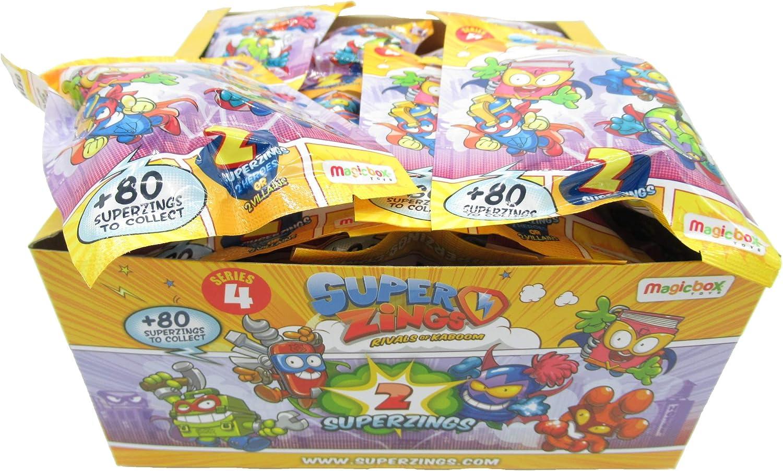 Magic Box SUPERZINGS Caja Completa 30 Sobres 2 Personajes Cada uno (2 héroe o 2 Enemigo) 60 Personajes Total Originales Rivals of Kaboom Serie 4: Amazon.es: Juguetes y juegos