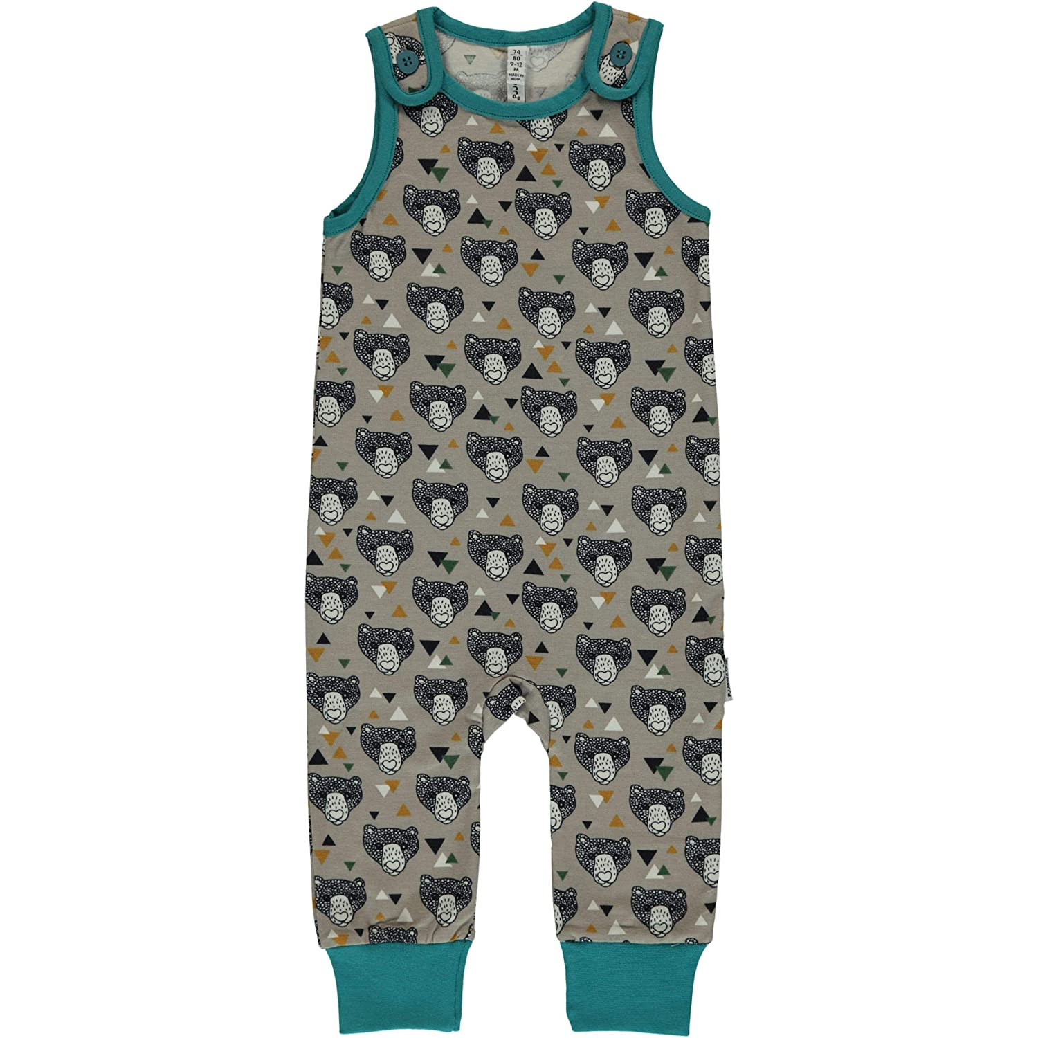Maxomorra Grizzly Bear Dungarees