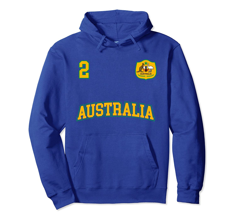 Australia Soccer Hoodie No. 2 Australian Flag Sports Team-ah my shirt one gift