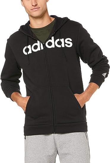 adidas Herren Trefoil Fleece Kapuzenjacke, Black, L: Bekleidung