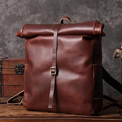 DADAO-Bolsos con bandoleras de cuero hechos a mano mochila bolsa de cuero ,Red