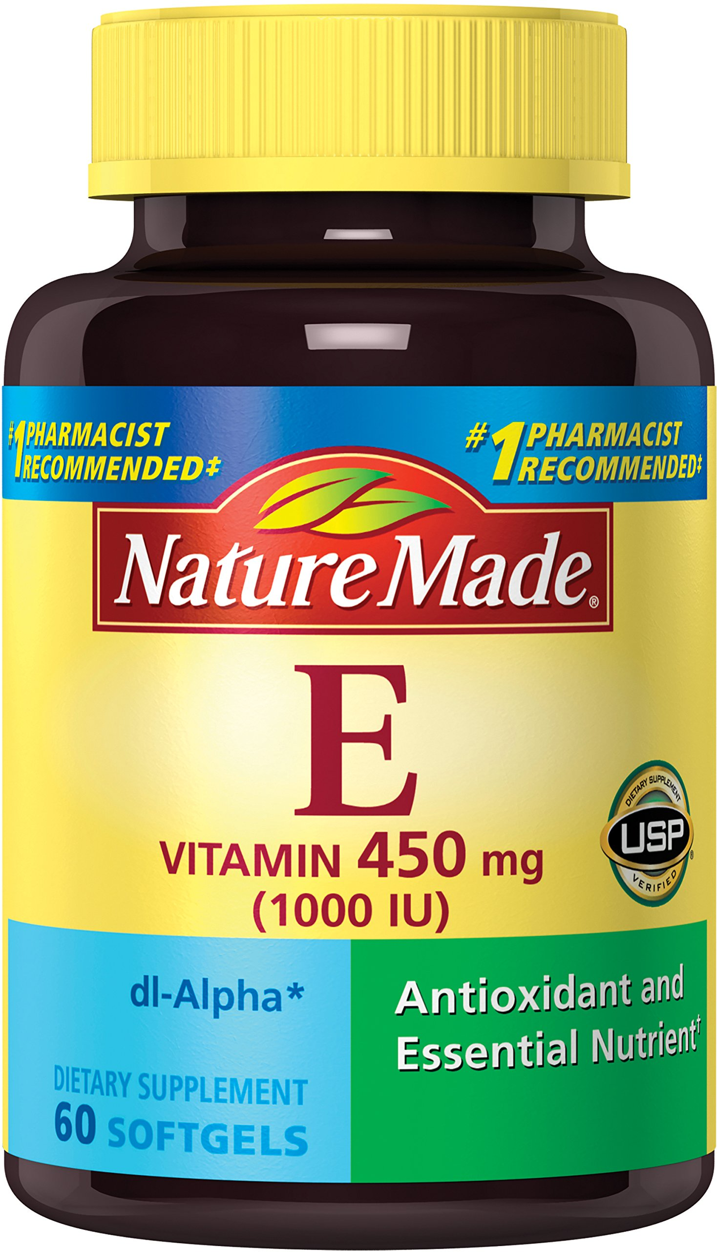 Nature Made Vitamin E 1000 IU (dl-Alpha) Softgels (Pack of 3)