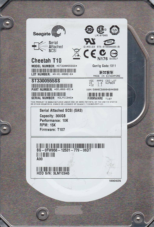 """Dell 300Gb 3.5/"""" Hard Drive FW956 Sas Internal 10K ST3300555SS 9DJ066-051"""