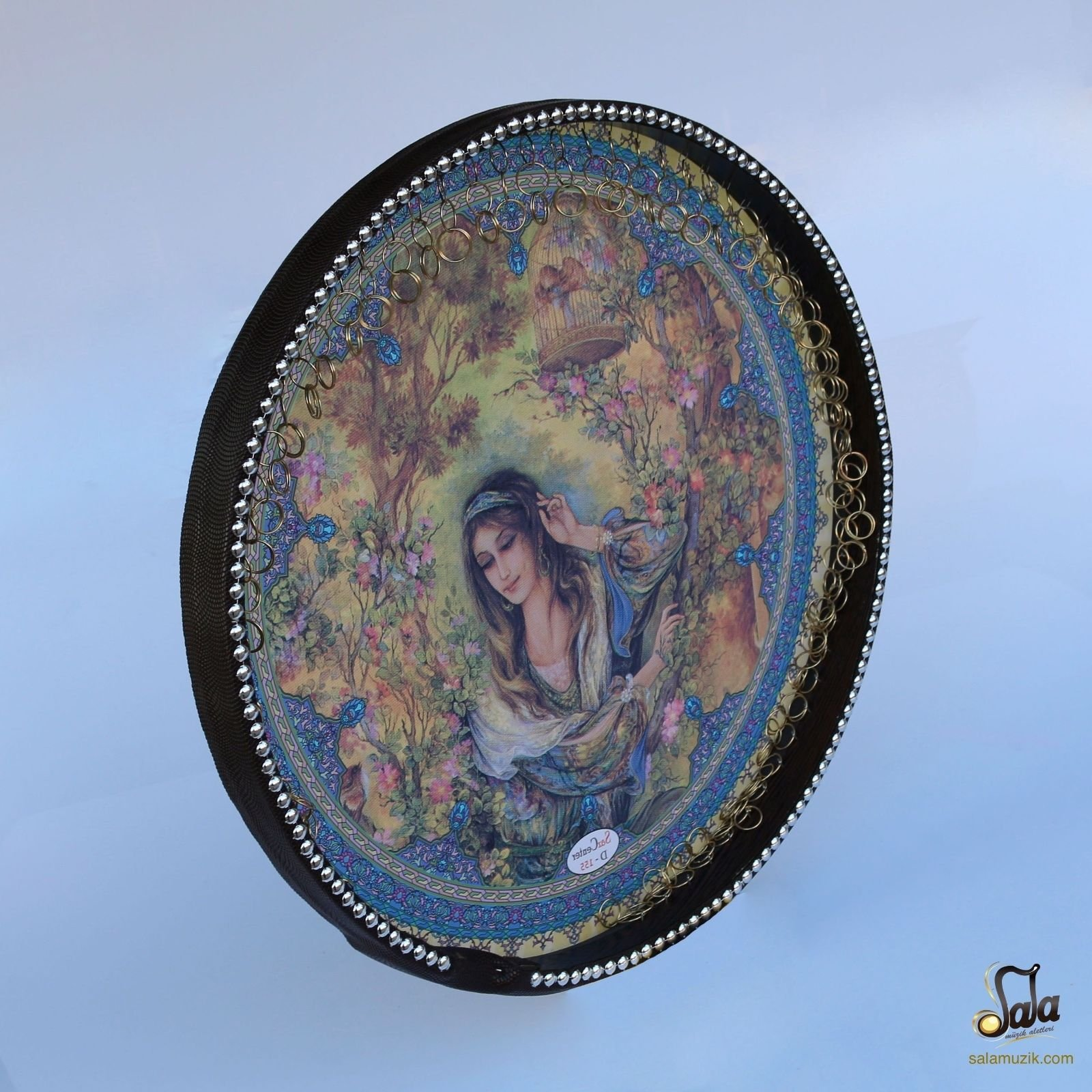 Persian Painting Daf, Deff, Def, Erbane, Bendir With Soft Case NDR-155