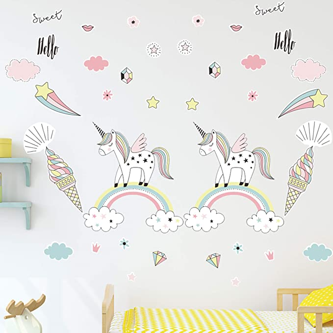 Birthday Girl Party Wall Sticker Decal Girl Kids Room Wall Art Kids Wall Stickers Boy Childrens Wall Decals Animals Wall Stickers