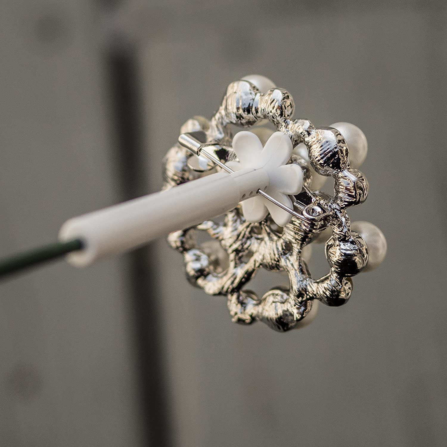 Amazon Brooch Bouquet Stems Easy Ready To Pin For Diy