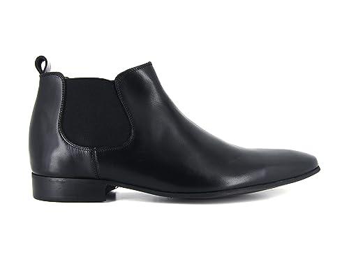 J.Bradford Zapatos Hombre Botines Cuero Negro JB-Donato: Amazon.es: Zapatos y complementos