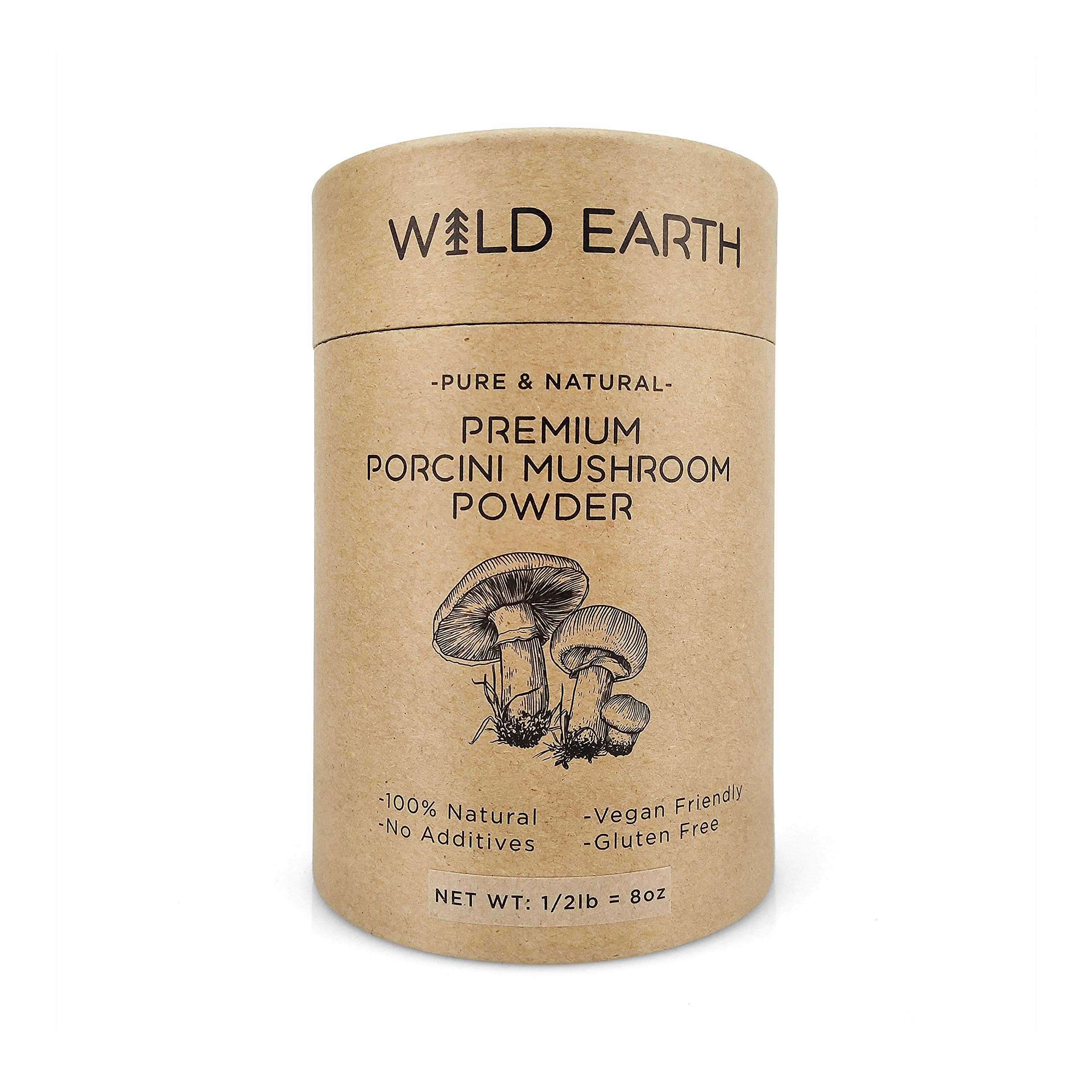 Porcini Mushroom Powder – Pure and Natural – No Additives – Vegan Friendly – Gluten Free – 1/2lb by Wild Earth