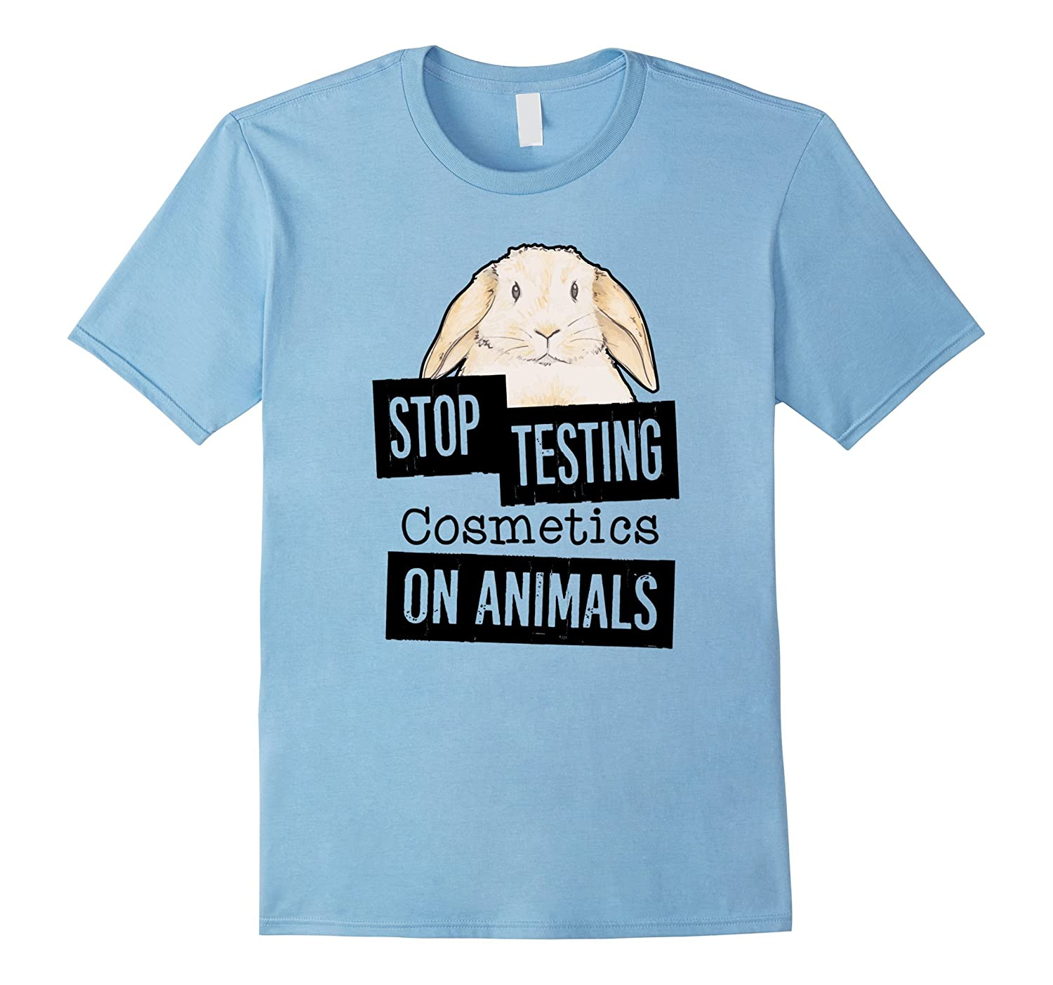 Stop Testing Cosmetics on Animals - Animal Rights T-Shirt-TH
